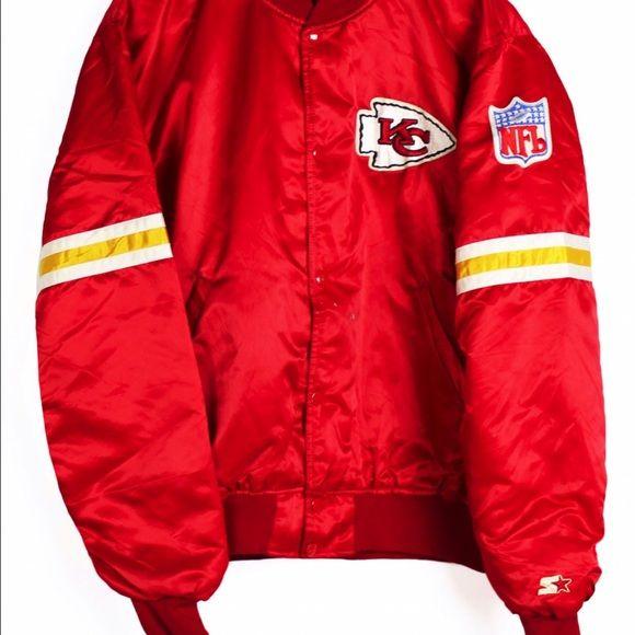 timeless design 566f0 75b96 Kansas City chiefs starter jacket red 90s Vintage Kansas ...