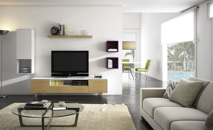 Mueble salón estilo nordico   espaciodeco.com   salón 23610 ...
