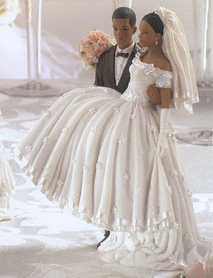 Wedding Dress Cake Toppers African American