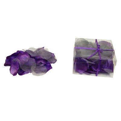 House of Hampton Faux Rose Petals Flower Color: Purple