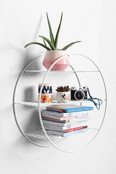 Wire Circle Shelf Circle Shelf Decor Shelves