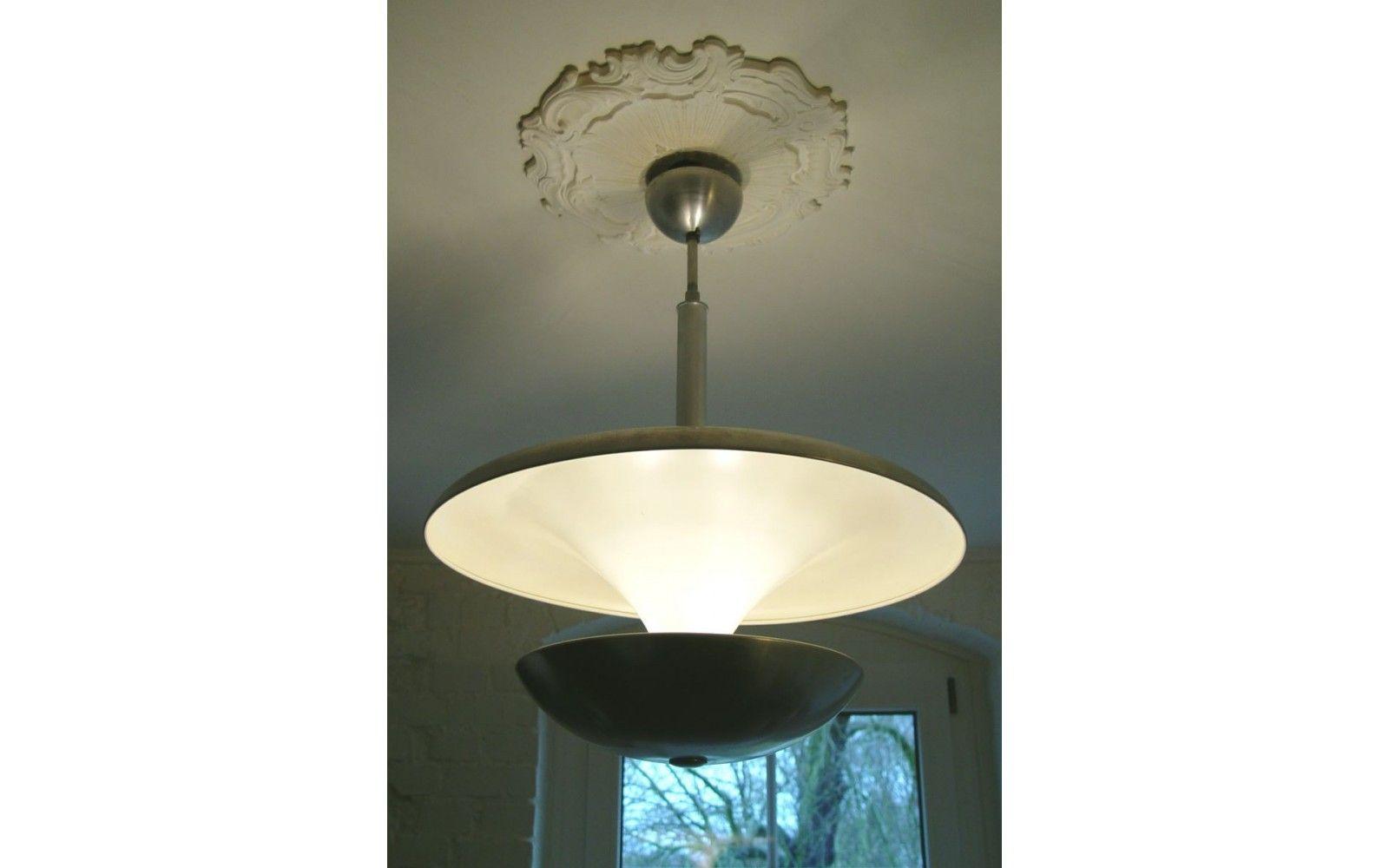 Badezimmerlampe Decke ~ 2 stufigealuminium decken hÄnge lampe original um 1970 die lampe