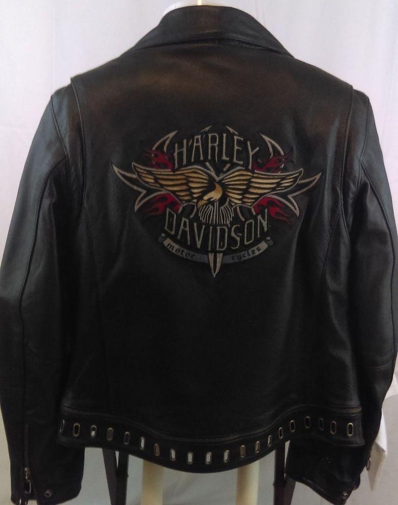 Harley Davidson Leather Jacket Size Medium Mens Rn103819 Ca03402 Harley Davidson Leather Jackets Harley Davidson Davidson [ 1000 x 789 Pixel ]