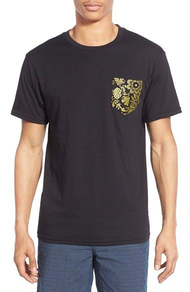 576e647dfbd911 Vans  50th Anniversary  Gold Floral Print Pocket T-Shirt