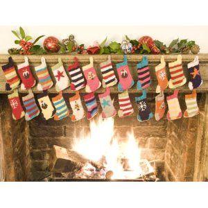 Christmas Stockings (Advent Bunting) Knitting Kit (6 colours)