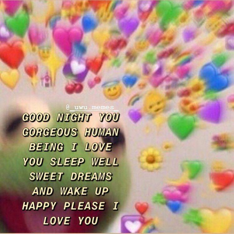 Good Night Uwu Wholesomegfmemes Sendthistoyourcrush Sendthistoyourboyfriend Wholesomememes Sendthistoyourbe Love You Cute Love You Meme Cute Love Memes