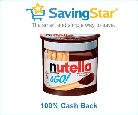 FREE Nutella  Go Saving Star Friday Freebie Dorky\u0027s Deals #free