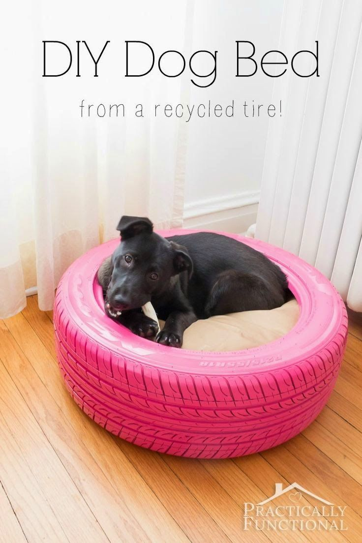 Turn An Old Tire Into A Diy Dog Bed