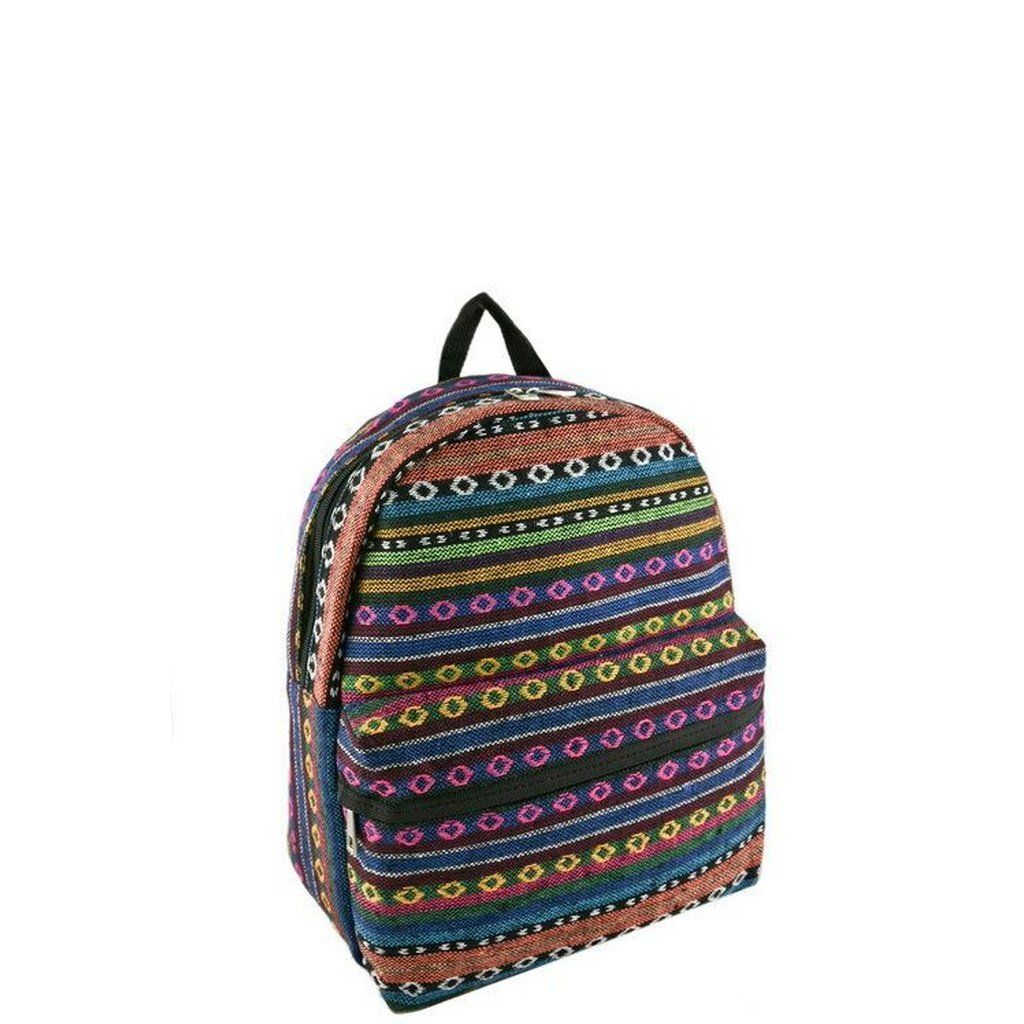 Tribal Pattern Woven Backpack  #backpack #canvasbackpack #cat #fashioneditorial #teenagers #unisexbag #backtoschool #backpacks #children #work