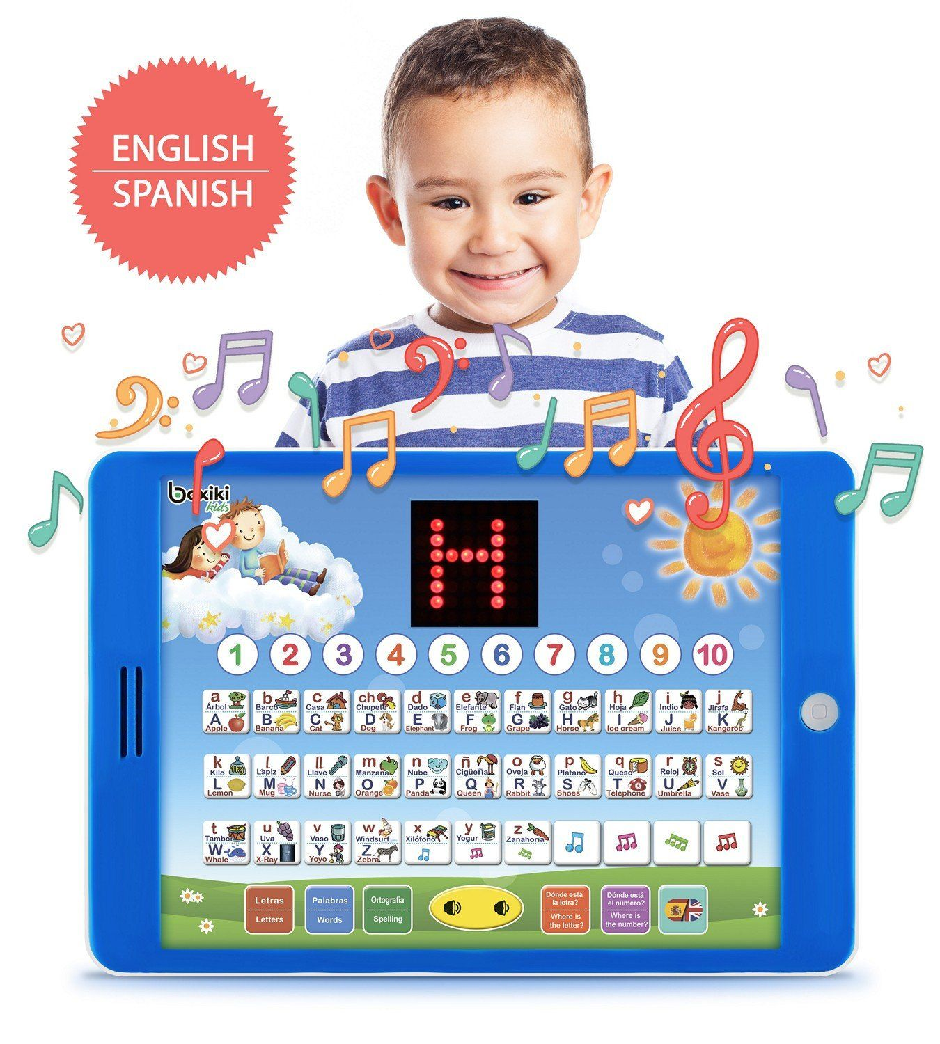 SpanishEnglish Tablet + LCD Screen Display Learning