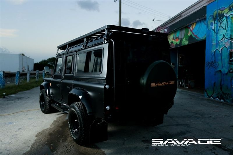 Black 110 Savage By Land Rovers Uk Ltd Usa D110 Defender Pre Owned