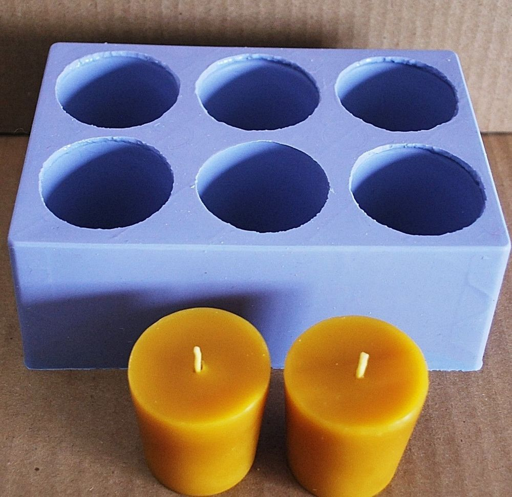 Platsic Votive Candle Mold-Round 6 Cavity