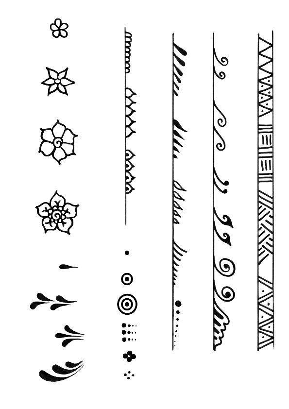 435c43998c2a49b26ab3981874ae620e Jpg 595 842 Beginner Henna Designs Henna Tattoo Designs Small Henna Designs