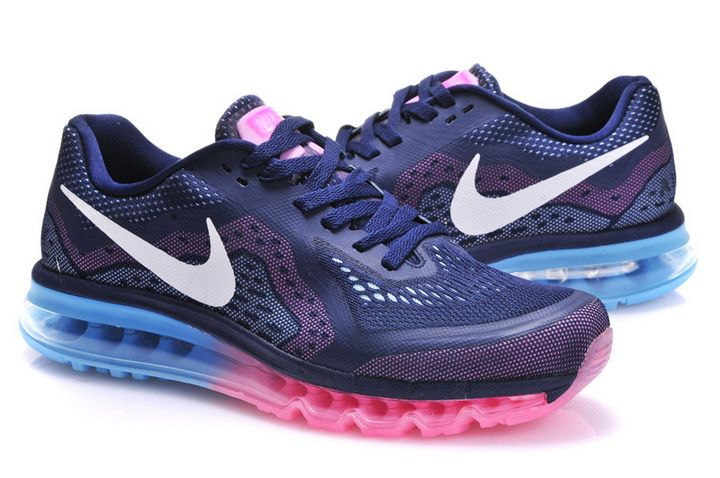 Hot Nike Air Max 2014 Womens Pink Black Pink 621078 603 Sport