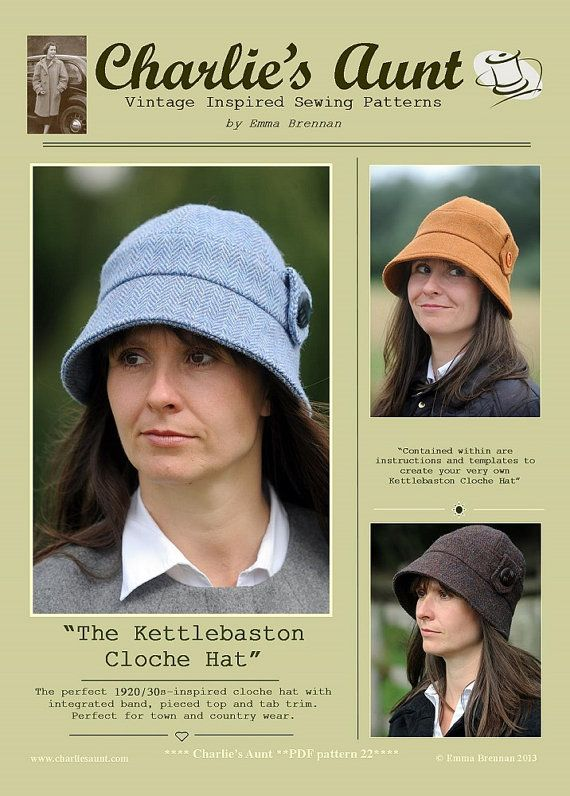 New: Sewing pattern to make the Kettlebaston Cloche Hat - PDF hat ...