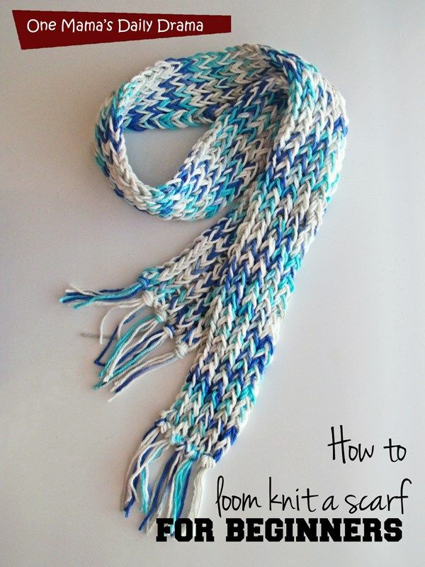 Loom Knit Scarf For Beginners Loom Knitting Patterns Pinterest