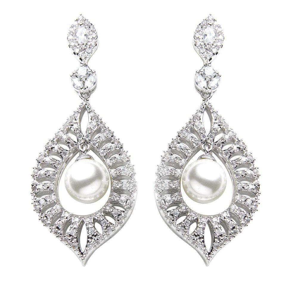 David Tutera Lena Pearl Earrings is just £60.00 | Crystal Bridal ...