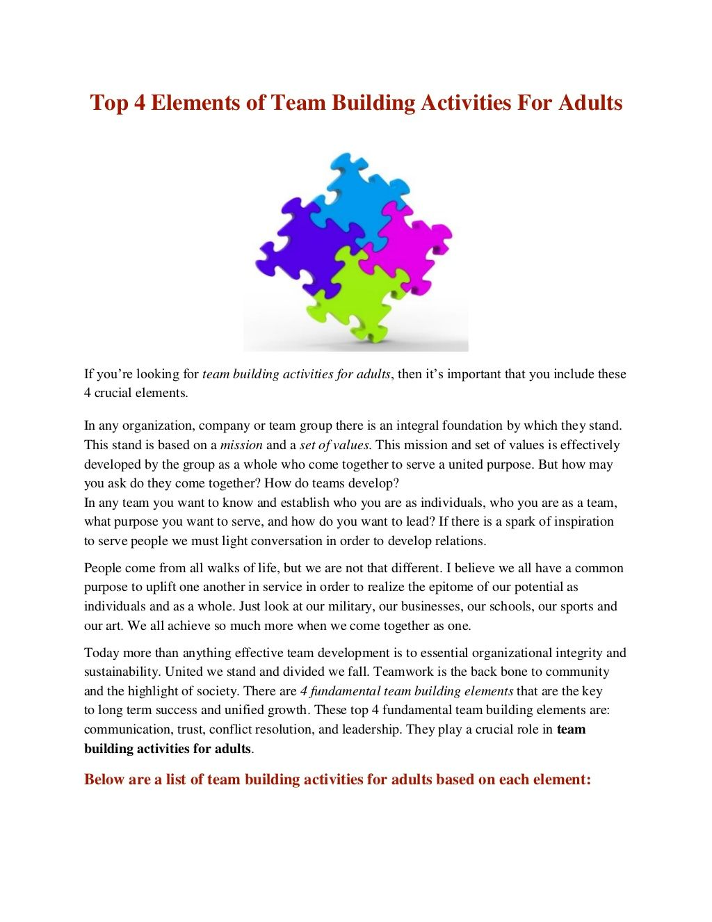 team building activities for adults | team building | team building