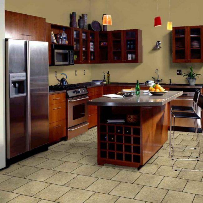 Bodenbelag für Küche fliesen-kochinsel-edelstahl-arbeitsplatte ... | {Arbeitsplatte küche fliesen 23}