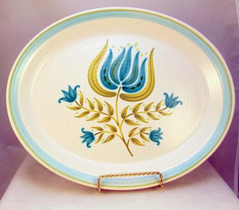 Vintage Franciscan Pottery Tulip Time 13 inch oval serving platter ...