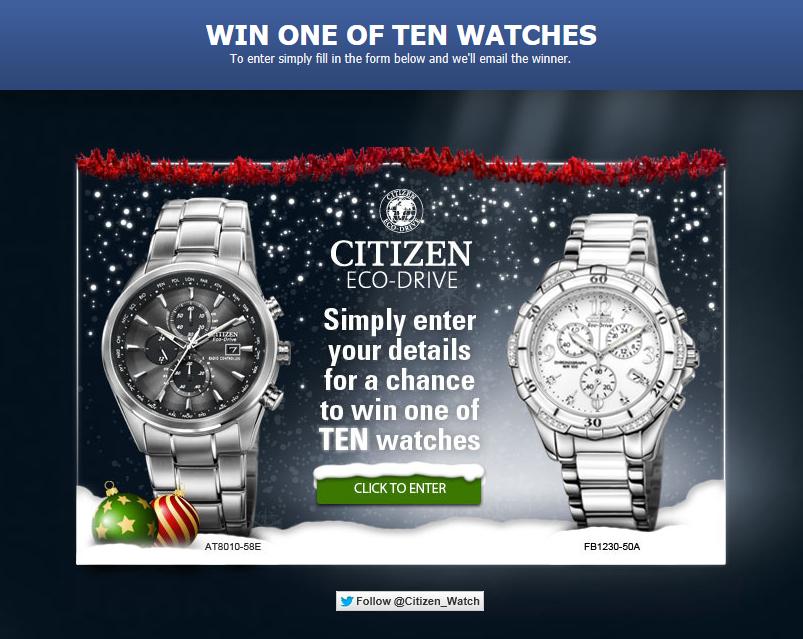 Citizen Watch Win A Watch Citizen Watch Citizen Citizen Eco