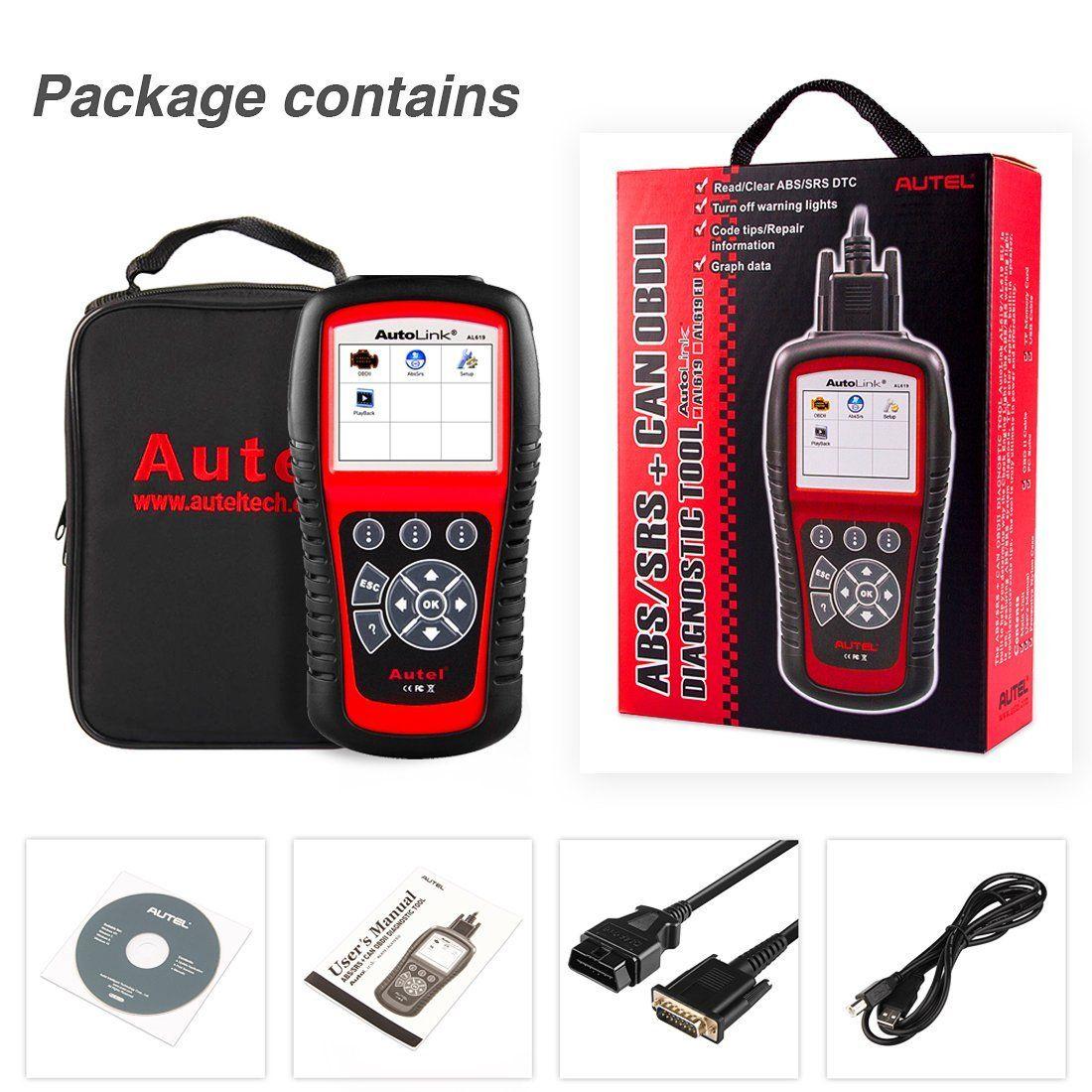 Autel AL619 Autolink Engine,ABS,SRS Auto OBD2 Scanner Car