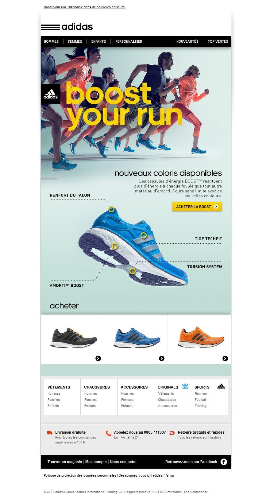 usted está Diálogo Tranquilizar  Retrouvez toutes les newsletters de la marque Adidas Shop dans notre  galerie de newsletters.   Adidas, Adidas boost, Adidas hommes