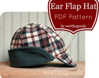 23a6675d7 Newsboy Hat PDF Pattern - Boys Flat Cap 6 Months to Pre-Teen - Baby ...