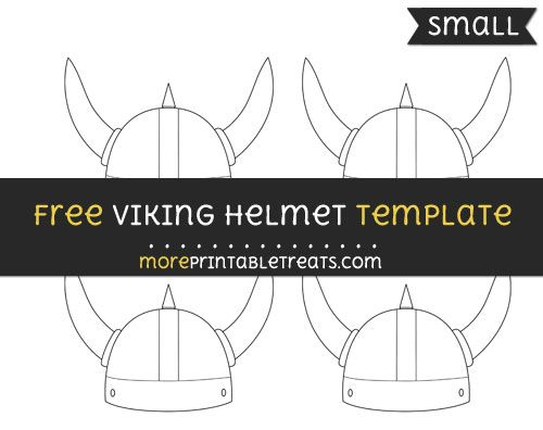 Free Viking Helmet Template - Small | Shapes and Templates ...
