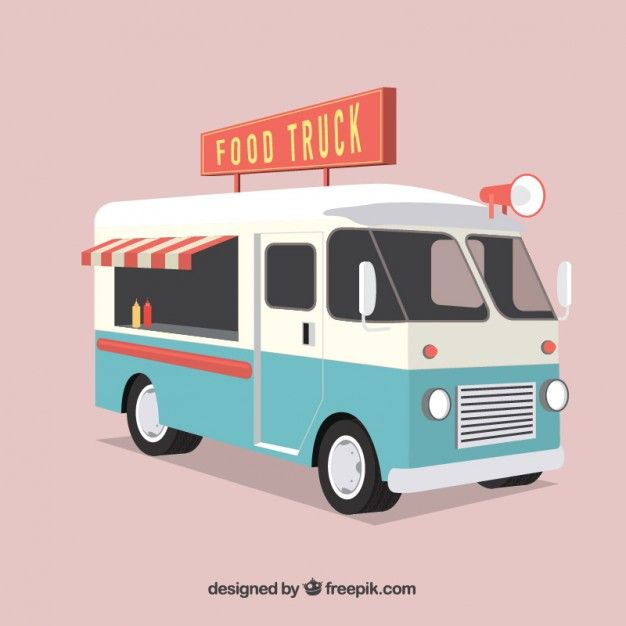 Vintage food truck clip art images for Food truck design software
