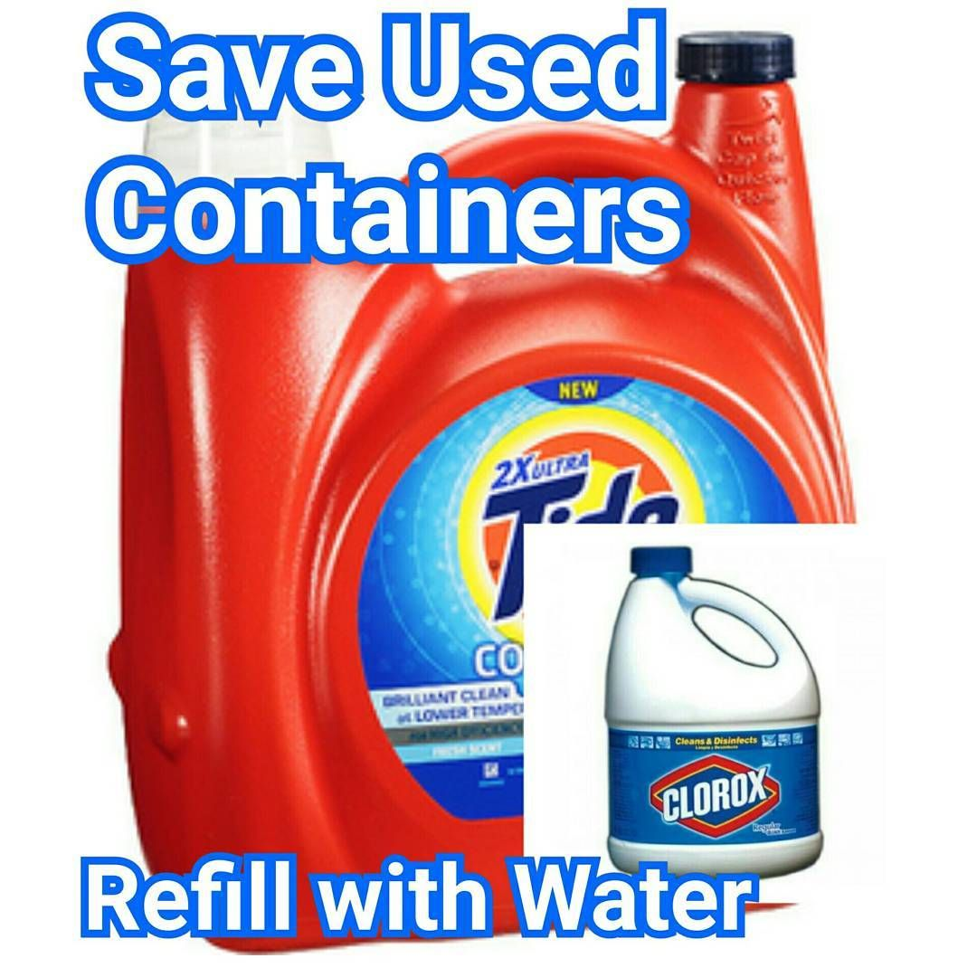 Storage Are we saving used detergent containers?) As we are done with our Bleach we should save those containers and fill them with water.  sc 1 st  Pinterest & DisasterPreparedness(Water Storage: Are we saving used detergent ...