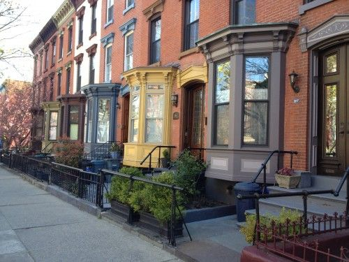 Painted Exteriors Brooklyn Brownstones The Home Color