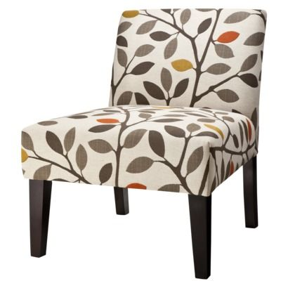 Avington Upholstered Accent Slipper Chair Multi Color Leaves From Target Gray Yellow And Orange Upholstered Chairs Furniture Living Room Furniture
