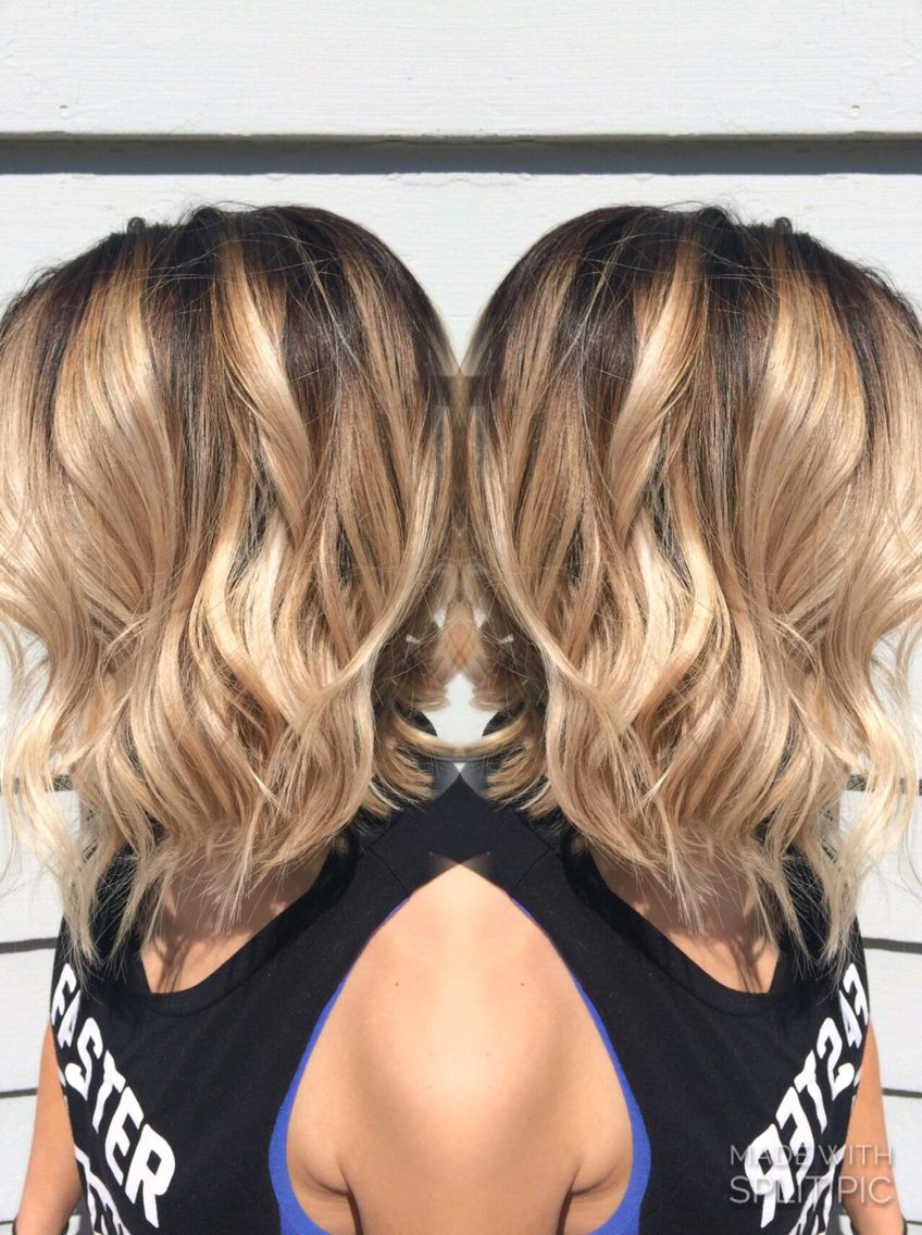 A darker base and brighter ends gives this fun lob the perfect sass