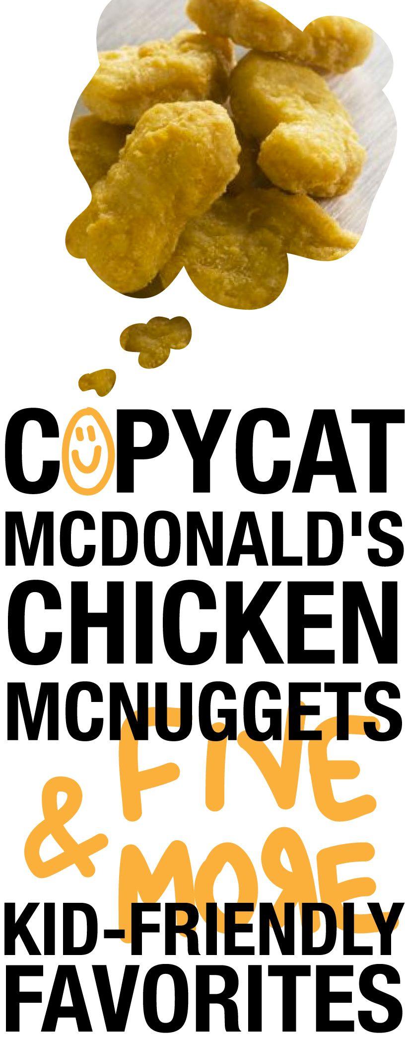 Copycat mcdonalds chicken mcnuggets five more kid