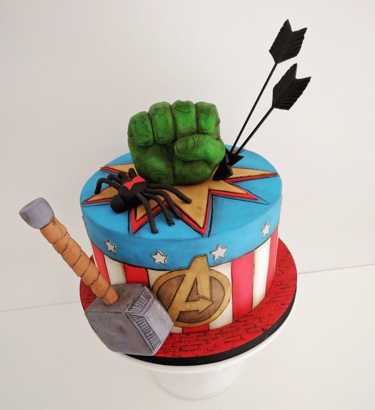 Avengers Themed Birthday Cake By Yellow Cake Co In Chattanooga