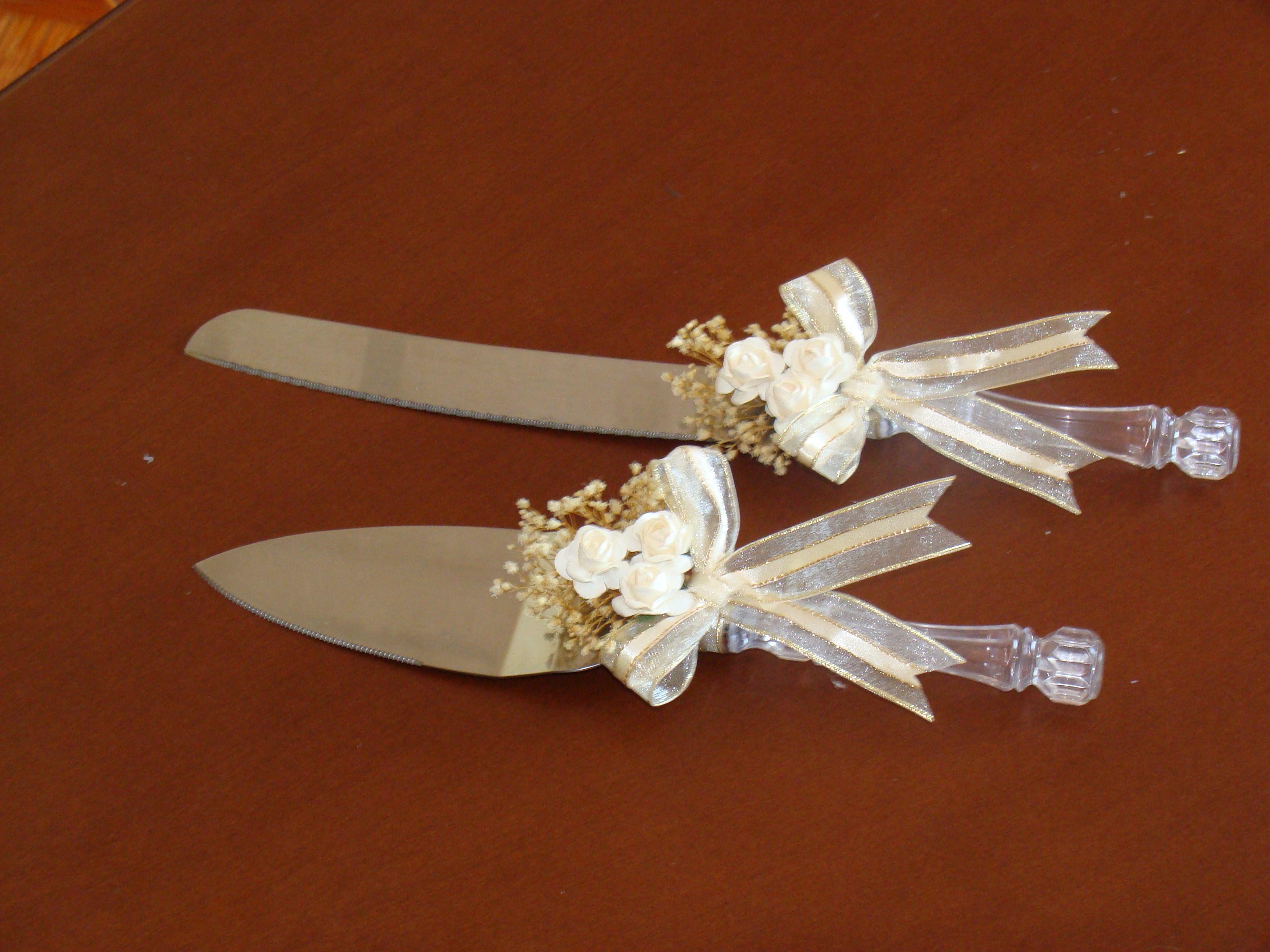 Espatula y cuchillo para cortar la torta | detalles para ...