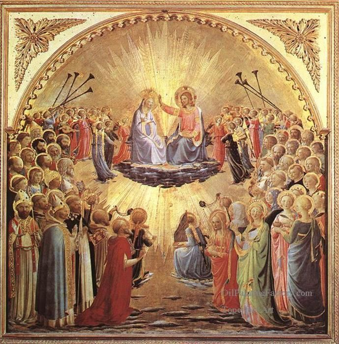 Medieval Art Paintings Religious 0 The Coronatio...