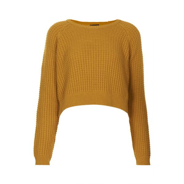 TOPSHOP Fisherman Cropped Sweater (545 UYU) ❤ liked on Polyvore ...