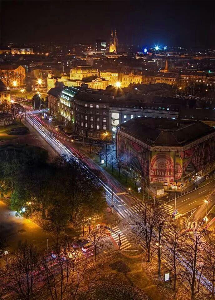 Zagreb Night Croatia Croatia Tourism Zagreb Croatia
