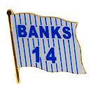 Chicago Cubs Ernie Banks Flag Souvenir Pin
