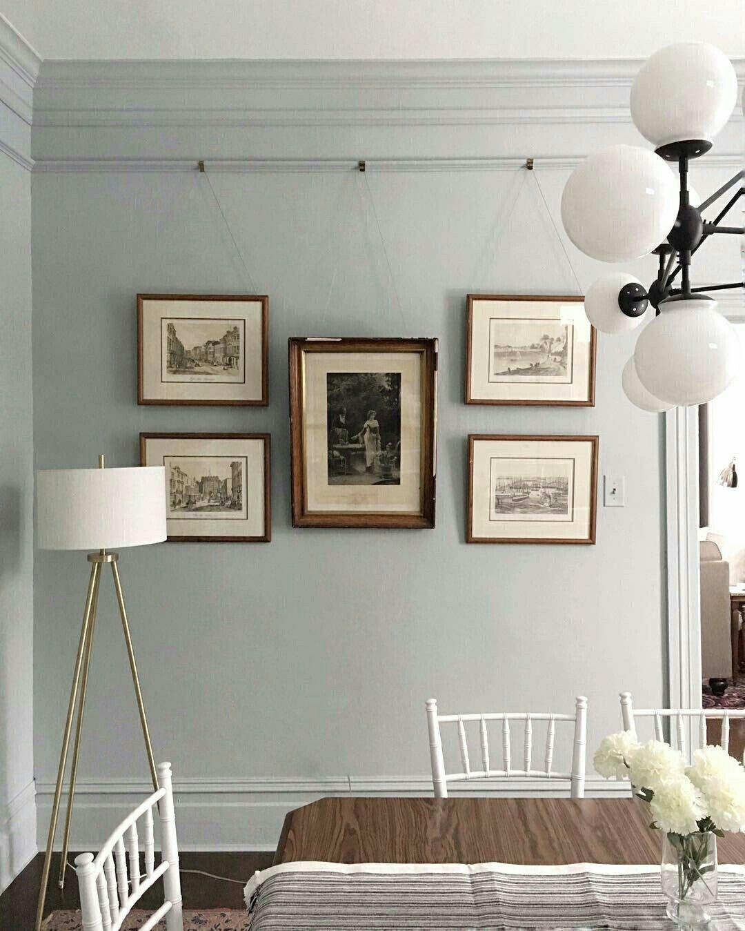 Picture Rail Painting Ideas: @oldhomelove Paint: Soft Silver Sage By Valspar