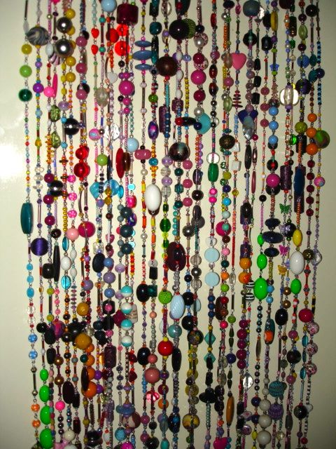 Pin By Darlene Abshier On My Current Projects Door Beads Bamboo Beaded Curtains Beaded Door Curtains