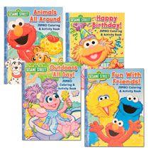 Bulk Sesame Street Jumbo Coloring Activity Books At Dollartree Com Sesame Street Birthday Party Sesame Street Birthday Sesame Street