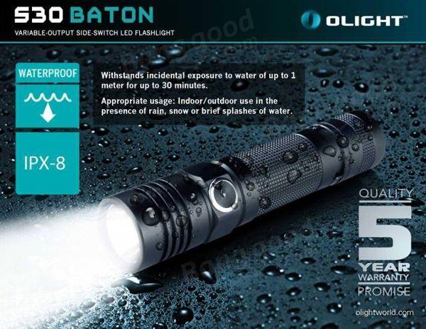 Olight S30 Baton NEW CREE XM-L2 1000LM 5modes LED Flashlight Sale-Banggood.com