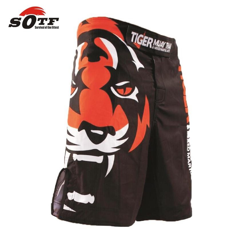 SOTF Tiger Muay Thai MMA shorts Boxing Fighting Sanda ropa boxeo bermuda