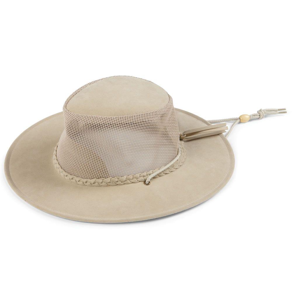 31508dbd5b403 The Evaporative Cooling Brimmed Hat - Hammacher Schlemmer