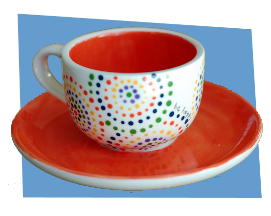 projects idea unique tea cups. Bright Dotted Teacup  Paint Your Own Pottery Bottle Painting Ideas I Love Crafts