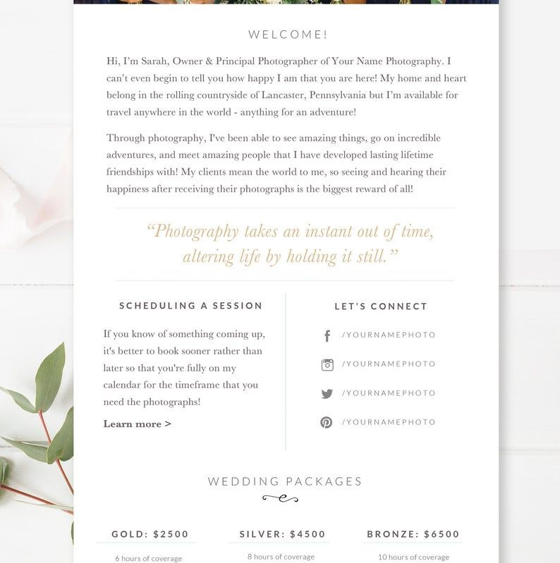Wedding Photography Email Template Email Newsletter Template Etsy Email Newsletter Template Newsletter Templates Email Templates