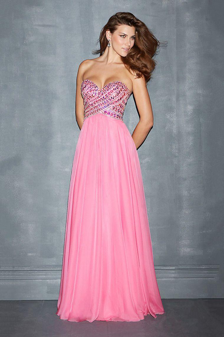 2014 Enchanted Prom Dresses Sweetheart A Line Chiffon Beaded Bodice ...